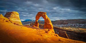 Fotos Vereinigte Staaten Park Bogen architektur Wolke Arches National Park, Utah Natur