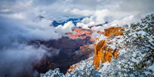 Hintergrundbilder USA Parks Grand Canyon Park Wolke Felsen Canyon Arizona Natur