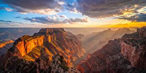 Hintergrundbilder USA Parks Grand Canyon Park Felsen Wolke Canyon Natur