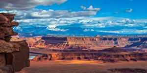 Fotos Vereinigte Staaten Park Gebirge Panorama Landschaftsfotografie Felsen Canyons Canyonlands National Park, Utah