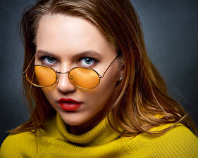 Fonds d'écran Visage Voir Lunettes Ulya, Nikolay Bobrovsky jeune femme