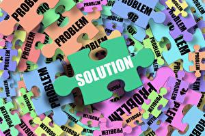 Fotos Text Englisch solution, problem, puzzle