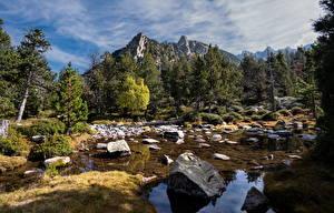 Bilder Andorra Gebirge Stein Bäume Madriu