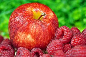 Wallpapers Berry Raspberry Apples Red
