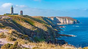 Sfondi desktop Litorale Un faro Francia Cape Freel, Brittany