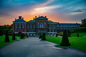 Desktop hintergrundbilder England Landschaftsbau London Palast Kensington Palace Städte