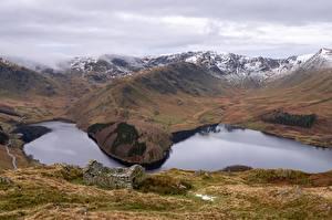Hintergrundbilder England Gebirge See Wolke Haweswater, Cumbria Natur
