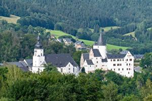 Bakgrunnsbilder Skoger Borg Tyskland Schwarzenberg Castle, Erzgebirgskreis, Saxony