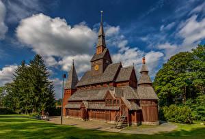 Tapety Niemcy Kościół Drewniany Hahnenklee Miasta zdjęcia zdjęcie