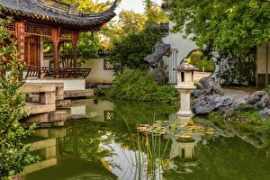 Bakgrunnsbilder Tyskland Parker En dam Steiner Gatelykter Design Ludwigsburg Natur