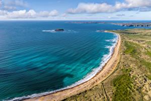 Sfondi desktop Irlanda La costa Nubi Vista dall'alto Pollan Bay