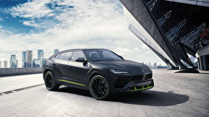 Bilder Lamborghini Schwarz 2020-21 Urus Graphite Capsule Autos