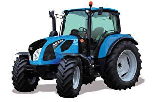 Bilder Traktor Blå Vit bakgrund Landini 6-135H, 2018 Städer bilder