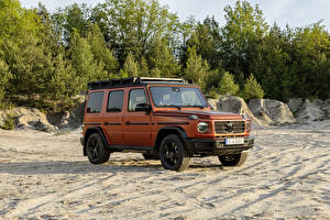 Bilder Mercedes-Benz Sport Utility Vehicle Orange 2021 G 350 d Professional Line Worldwide