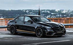 Bilder Mercedes-Benz Schwarz Metallisch 2021 Manhart ER 800 Autos