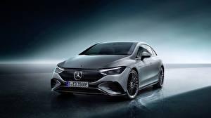 Bureaubladachtergronden Mercedes-Benz Grijs 2022 EQE 350 AMG Line Edition 1 Worldwide Auto
