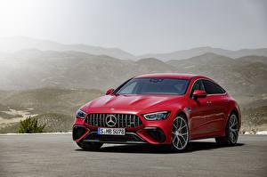 Hintergrundbilder Mercedes-Benz Coupe Rot