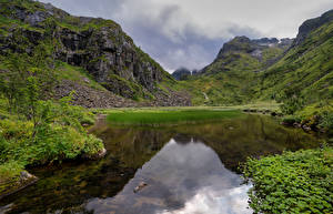 Fonds d'écran Norvège Montagnes Fjord Trollfjord