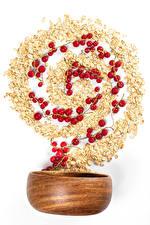 Fondos de escritorio Gachas de avena Ribes El fondo blanco Alimentos