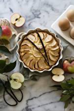 Bilder Bakning produkter Paj Äpplen Mat bilder