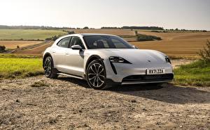 Bilder Porsche Silver färg Metallisk Taycan, E-Performance, 2021 Bilar bilder