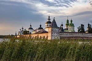 Fonds d'écran Russie Monastère Les tours Kirillo-Belozersky Monastery Villes