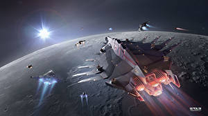 Bakgrunnsbilder Star Conflict Romskip Planeter Flygende Dataspill Verdensrommet