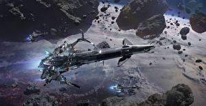 Bakgrunnsbilder Romskip Star Conflict Flyging Dataspill