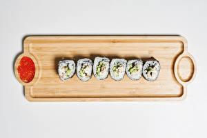 Fondos de escritorio Sushi Hueva Tabla de cortar Alimentos