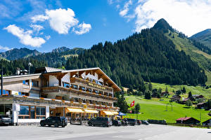 Fotos & Bilder Schweiz Haus Gebirge Wälder Hotel Ormont-Dessous, Vaud Städte