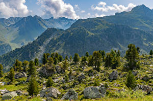 Desktop hintergrundbilder Schweiz Berg Alpen Wolke Col de Chassoure Natur
