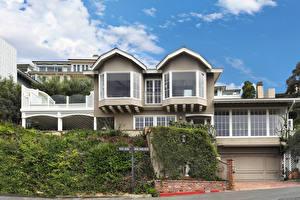 Bilder Vereinigte Staaten Kalifornien Eigenheim Design Garage Straßenlaterne Laguna Beach Städte