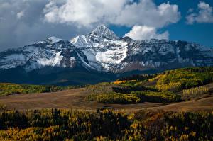 Fotos & Bilder USA Gebirge Herbst Landschaftsfotografie Wolke Mount Wilson Natur
