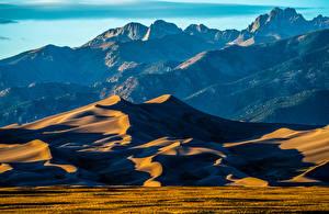 Desktop hintergrundbilder USA Berg Park Great Sand Dunes National Park Natur