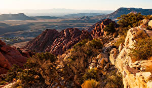 Desktop wallpapers USA Mountain Stones Cliff Red Rock Canyon Nature