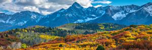 Sfondi desktop Stati uniti Paesaggio Autunno Montagne Panoramica Colorado Natura