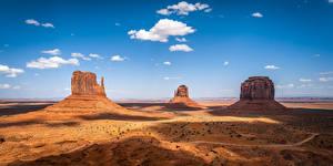 Bureaubladachtergronden Amerika Hemelgewelf klif landform Wolken Monument Valley, Utah