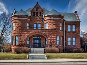Bureaubladachtergronden Amerika Tempel Kerkgebouw Holy Trinity Church, Bloomington, Illinois Steden