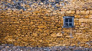 Papéis de parede Muro Janela Feito de pedra Naturaleza imagens