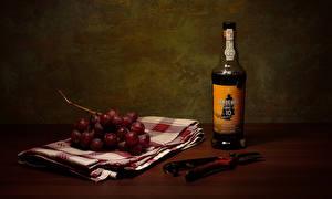 Tapety na pulpit Wino Winogrono Butelki żywność